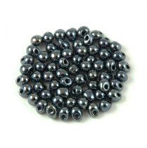 Miyuki drop gyöngy - 451 -  Hematit  - 3.4mm