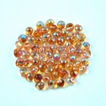 Miyuki drop gyöngy - 55022 - Crystal Orange Rainbow - 3.4mm