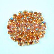 Miyuki drop gyöngy - 55022 - Crystal Orange Rainbow - 3.4mm