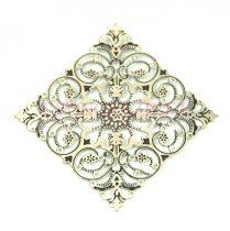 Medál - csillag - antik ezüst színű - 33mm