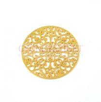 Medál - rózsa ablak - arany színű- 23mm