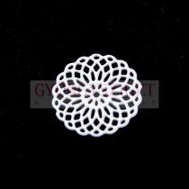 Medál - rózsa ablak - fehér - 15 mm