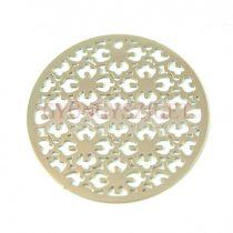 Medál - rózsa ablak - platina színű- 30mm