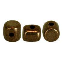 Minos® par Puca®gyöngy - golden bronz - 2.5x3 mm