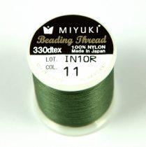 Miyuki fűzőcérna - oliva - 50m