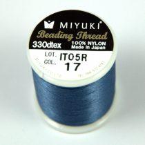 Miyuki fűzőcérna - acélkék - 50m