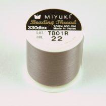 Miyuki fűzőcérna - sötét barnás- szürke - 50m