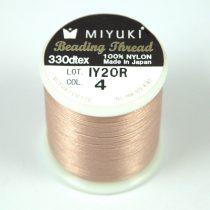 Miyuki fűzőcérna - aranybarna - 50m