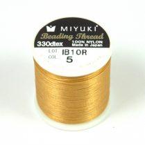 Miyuki fűzőcérna - arany - 50m