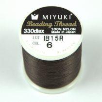 Miyuki fűzőcérna - sötét barna - 50m