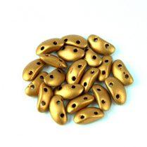 Mobyduo cseh préselt kétlyukú gyöngy - Brass Gold - 3x8mm