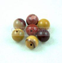 Mokait ásvány golyó gyöngy - 6mm - szálon