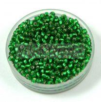 Miyuki kásagyöngy - 16 - Silver Lined Green - méret:11/0 - 30g - AKCIOS