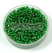 Miyuki Japanese Round Seed Bead - 16 - Silver Lined Green - size:11/0 - 30g