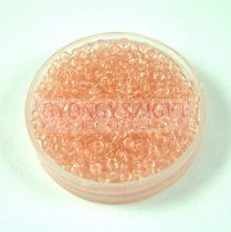 Miyuki kásagyöngy - 155 - Transparent Light Tea Rose - méret:11/0 - 30g