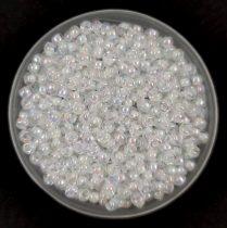 Miyuki Japanese Round Seed Bead - 284 - White Lined Crystal AB - size:11/0