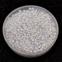 Miyuki Japanese Round Seed Bead -1001 - Silver Lined Crystal AB - size:11/0
