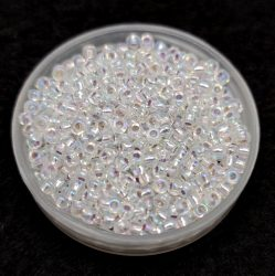 Miyuki Japanese Round Seed Bead -1001 - Silver Lined Crystal AB - size:11/0