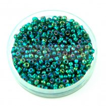 Miyuki Japanese Round Seed Bead -1017 - Silver Lined Emerald AB - size:11/0 - 30g
