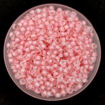 Miyuki kásagyöngy - 1934 - Semi-Frosted Baby Pink Lined Crystal - méret:11/0