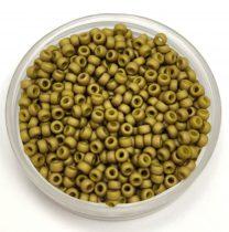 Miyuki Japanese Round Seed Bead - 2032 - Metallic Matte Olive Green - size:11/0