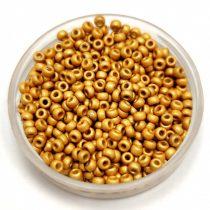 Miyuki Japanese Round Seed Bead - 4202f - Duracoat Galvanized Matt Gold - size:15/0