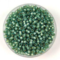Miyuki kásagyöngy - 4241 - Duracoat Silver Lined Dark Mint - méret:11/0