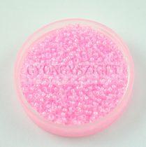 Miyuki kásagyöngy - 207 - Pink Lined Crystal - méret:15/0 - 15g