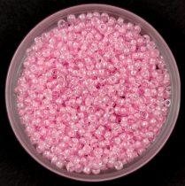 Miyuki kásagyöngy - 207 - Pink Lined Crystal - méret:15/0