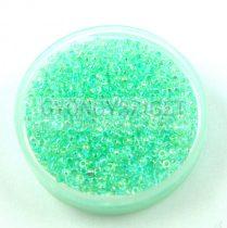 Miyuki kásagyöngy - 271 - Mint Lined Crystal AB - méret:15/0 - 15g - AKCIOS