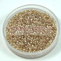 Miyuki kásagyöngy - 1521 - Shiny Beige Lined Crystal - méret:15/0 - 15g