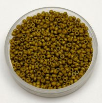 Miyuki Japanese Round Seed Bead - 4491 - Duracoat Opaque Spanish Olive - size:15/0