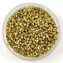 Miyuki Japanese Round Seed Bead - 4512 - Opaque Yellow Picasso - size:15/0