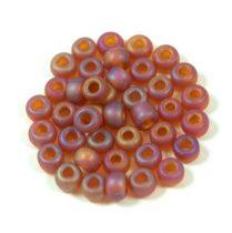 Miyuki Japanese Round Seed Bead - 134fr - Matte Transparent Dark Amber AB - size: 6/0