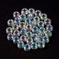 Miyuki kásagyöngy - 250 - crystal ab - 6/0