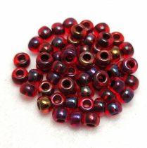 Miyuki Japanese Round Seed Bead - 367 - Garnet Lined Ruby AB - size: 6/0