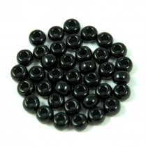 Miyuki Japanese Round Seed Bead - 401 - Opaque Black - size: 6/0