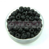 Miyuki kásagyöngy - 401f - Frosted Black - 6/0