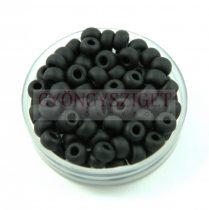 Miyuki Japanese Round Seed Bead - 401f - Frosted Black - size: 6/0
