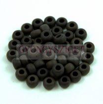 Miyuki Japanese Round Seed Bead - 401f - Frosted Dark Chocolate - size: 6/0