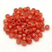 Miyuki Japanese Round Seed Bead - 553 - Silver Lined Peach Opal - size: 6/0