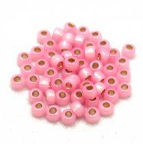 Miyuki Japanese Round Seed Bead - 555 - Silver Lined Pink Opal - size: 6/0