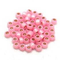 Miyuki kásagyöngy - 555 - Silver Lined Pink Opal - 6/0