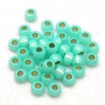 Miyuki kásagyöngy - 571 - Silver Lined Mint Green - 6/0