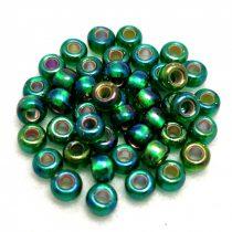 Miyuki Japanese Round Seed Bead - 1016 - Silver Lined Green AB - size: 6/0