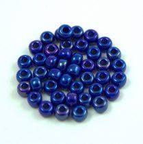 Miyuki Japanese Round Seed Bead - 1945 - Opaque Royal Blue AB - size: 6/0