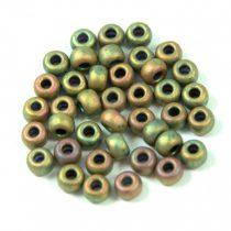 Miyuki Japanese Round Seed Bead - 2035 - Matte Metallic Khaki Iris - size: 6/0