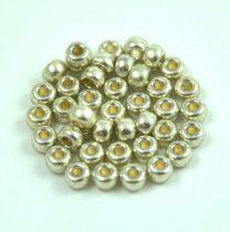 Miyuki kásagyöngy - 4201 - Duracoat Galvanized Silver - méret:6/0