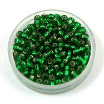 Miyuki kásagyöngy - 16 - Silver Lined Green - méret:8/0