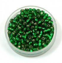 Miyuki Japanese Round Seed Bead - 16 - Silver Lined Green - size:8/0